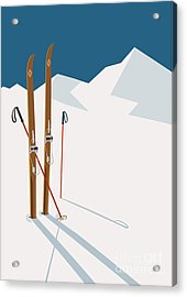 Vector Winter Themed Template With Acrylic Print