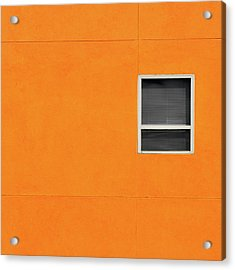 Very Orange Wall Acrylic Print