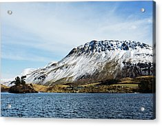 View Of Lake With Mountains In Acrylic Print