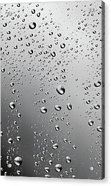 Water Drops Background Dew Condensation Acrylic Print by Ultramarinfoto