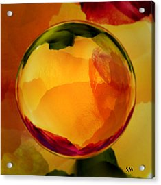 Watercolor Glass Marble  Acrylic Print