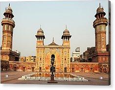 Wazir Khan Mosque At Sunset, Lahore Acrylic Print