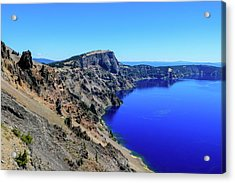 Acrylic Print featuring the photograph West Rim Of Crater Lake by Dawn Richards