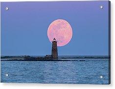 Whaleback And The Worm Moon Acrylic Print