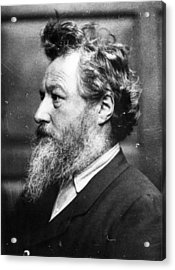 William Morris Acrylic Print by Frederick Hollyer