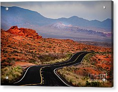 Winding Road In Valley Of Fire Acrylic Print