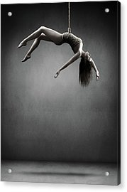 Woman Hanging On A Rope Acrylic Print
