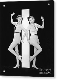 Women Posing With Big Letter I Acrylic Print by Everett Collection