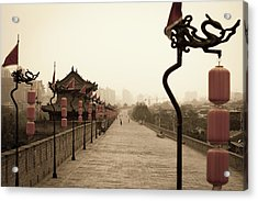 Xian City Wall, China Acrylic Print by Fototrav