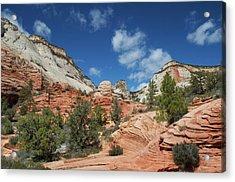 Zion Canyon Natural Beauty Acrylic Print by Mitch Diamond