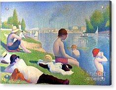 Bathers At Asnieres Acrylic Print