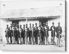 107th Us Coloured Infantry Acrylic Print by Archive Photos