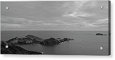 Dawn In Black And White In The Cap De Creus Acrylic Print