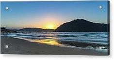 Hazy Sunrise Seascape Acrylic Print