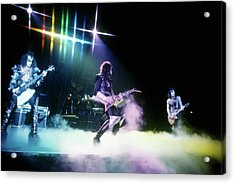 Kiss Performing Acrylic Print by Michael Ochs Archives