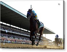 147th Belmont Stakes Acrylic Print by Rob Carr