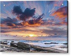 An Atmospheric Sunrise Seascape Acrylic Print