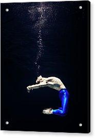 Ballet Dancer Underwater Acrylic Print