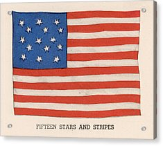 1794 American Flag Acrylic Print by Kean Collection