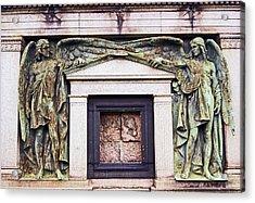 18/09/13 Glasgow. The Necropolis, Double Angels. Acrylic Print