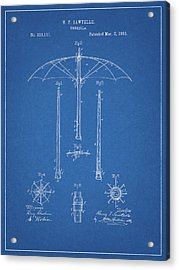 1885 Umbrella Patent Acrylic Print