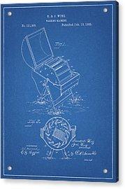 1885 Washing Maching Patent Acrylic Print