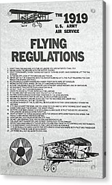 1919 Flying Regulations Poster Acrylic Print