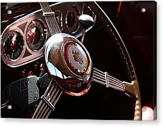 Acrylic Print featuring the photograph 1937 Vintage Model 1508 Steering Wheel by Debi Dalio