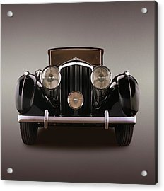 1939 Bentley 4 14 Litre Overdrive, With Acrylic Print
