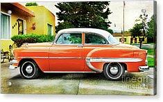 1954 Belair Chevrolet 2 Acrylic Print