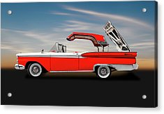 1959 Ford Skyliner Convertible Hardtop  -  1956fordskylinerhardtopcv149292 Acrylic Print