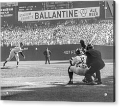 1956 World Series - Game 5  Brooklyn Acrylic Print by The Stanley Weston Archive