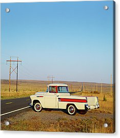 1957 Chevrolet Cameo Pick Up Truck On Acrylic Print