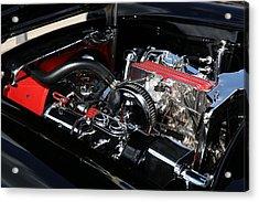 Acrylic Print featuring the photograph 1957 Chevrolet Corvette Engine by Debi Dalio