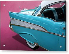Acrylic Print featuring the photograph Turquoise 1957 Chevrolet Bel Air by Debi Dalio