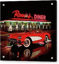 1960 Chevrolet Corvette Convertible Acrylic Print by Car Culture