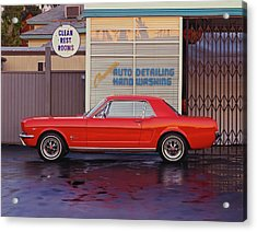 1964 12 Ford Mustang Coupe At Billys Acrylic Print by Car Culture