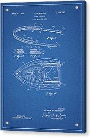1964 Steam Iron Patent Acrylic Print