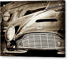 1965 Aston Martin Db6 Short Chassis Volante Grille-0970s2 Acrylic Print