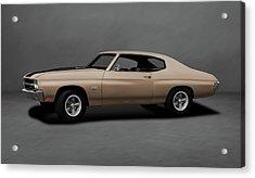1970 Chevrolet Chevelle Ss 454  -  1970chevyshevelless454dblgray196911 Acrylic Print by Frank J Benz