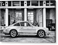 Acrylic Print featuring the photograph 1972 Porsche 911 Monochrome by Tim Gainey