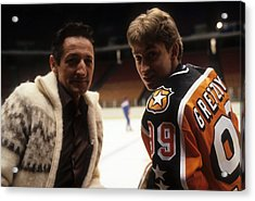1984 36th Nhl All-star Game  Campbell Acrylic Print by B Bennett