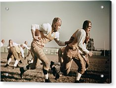 1930s High School Football Acrylic Print