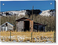 A Sign Of The Times, Run Diown Farm Out Buildings And Barns, Alb Acrylic Print