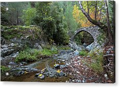 Acrylic Print featuring the photograph Ancient Stone Bridge Of Elia, Cyprus by Michalakis Ppalis