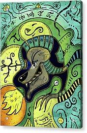 Acrylic Print featuring the digital art Anubis by Sotuland Art