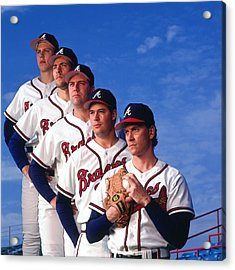 Atlanta Braves Acrylic Print by Ronald C. Modra/sports Imagery
