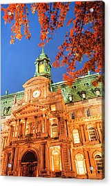 Autumn-colored Trees, Hotel De Ville Acrylic Print