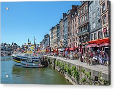 Avant Port, Honfleur, Normandy, France Acrylic Print by Lisa S. Engelbrecht