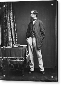 Charles Dickens Acrylic Print by Hulton Archive